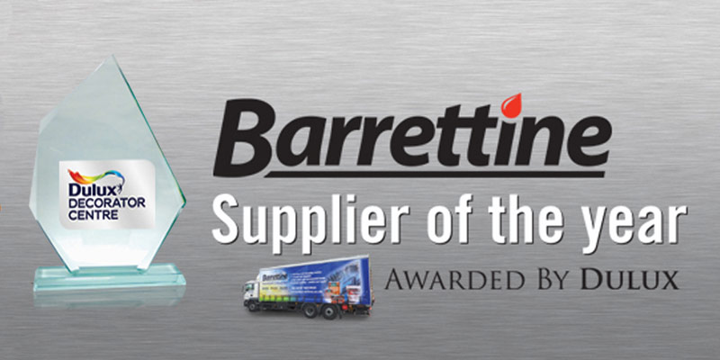 Barrettine Products Wins Dulux Award