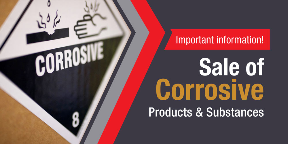 Sale of Corrosive Products