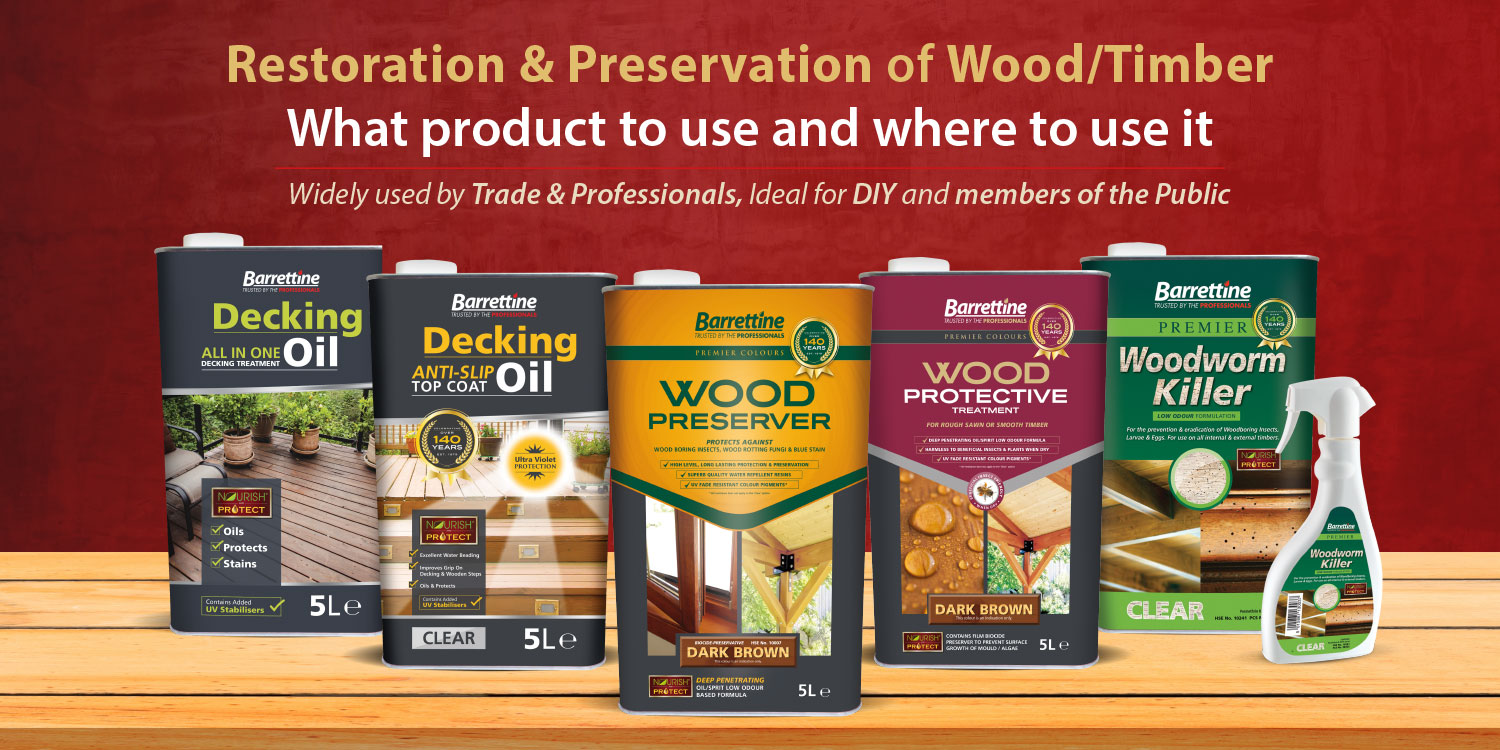 Restoration & Preservation of Wood/Timber - What product to use and where to use it