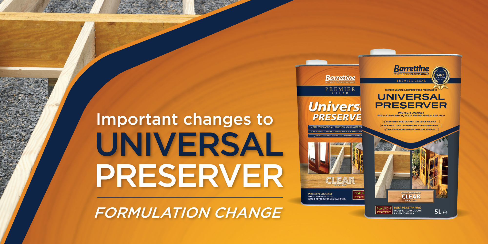 Changes to Barrettine Universal Wood Preserver