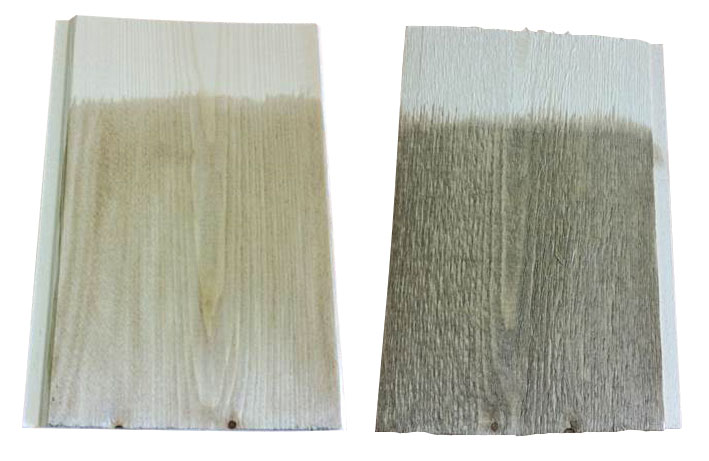 smooth and rough wood examples