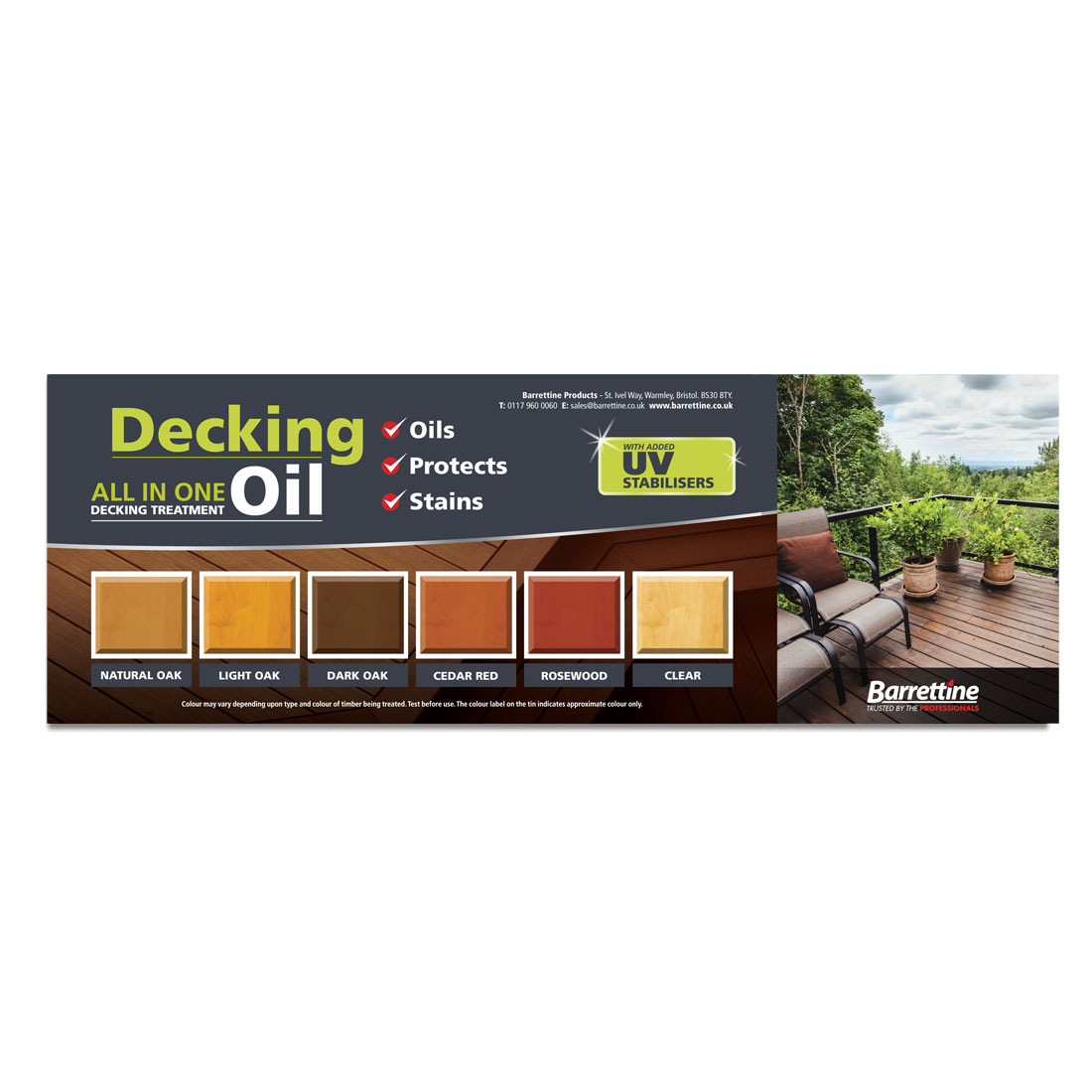 Decking Oil Swatch Board