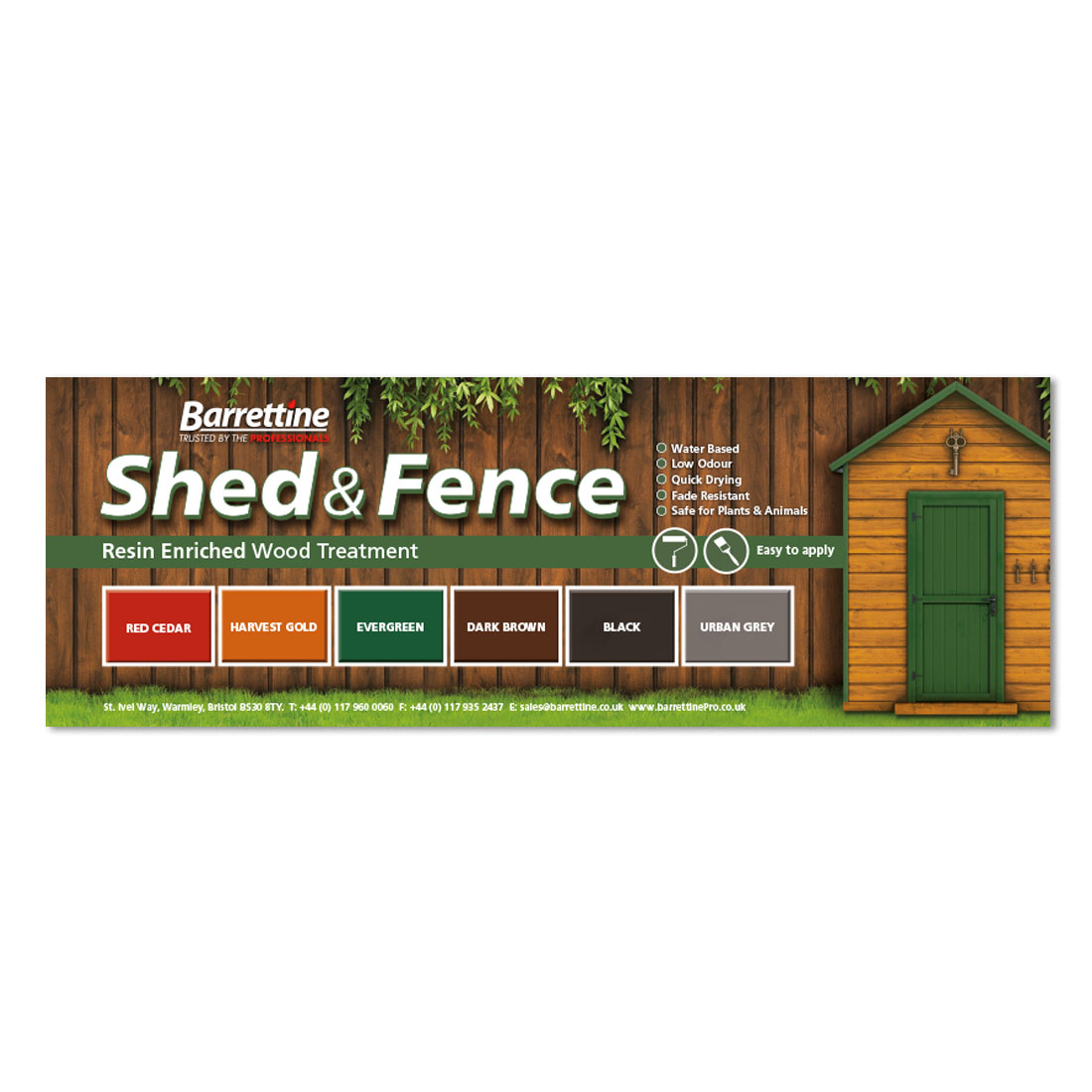 Shed & Fence Treatment Swatch Board