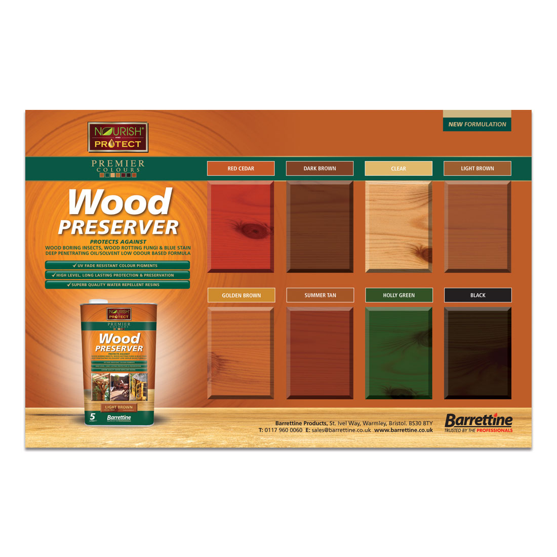 Wood Preserver Large Swatch Board