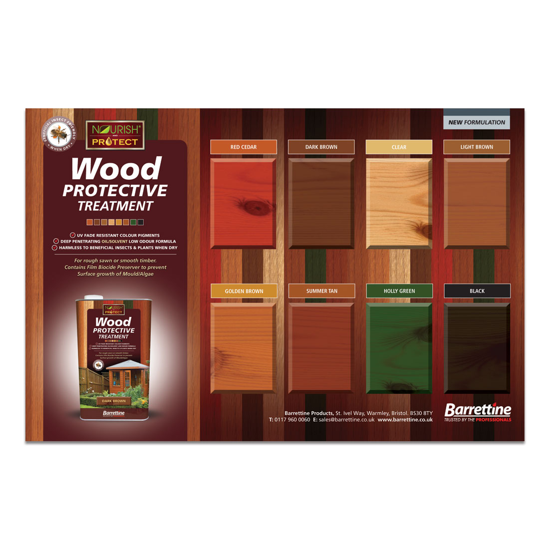 Wood Protective Treatment Large Swatch Board
