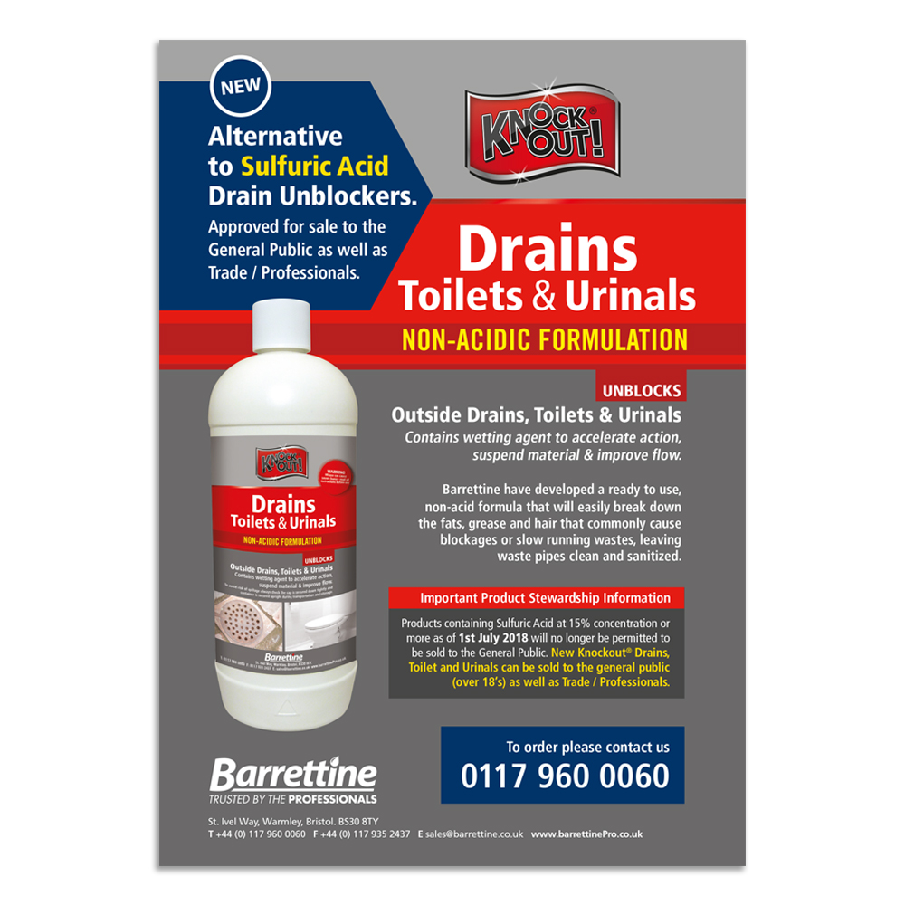 Knockout Drains Toilets & Urinals Flyer A5