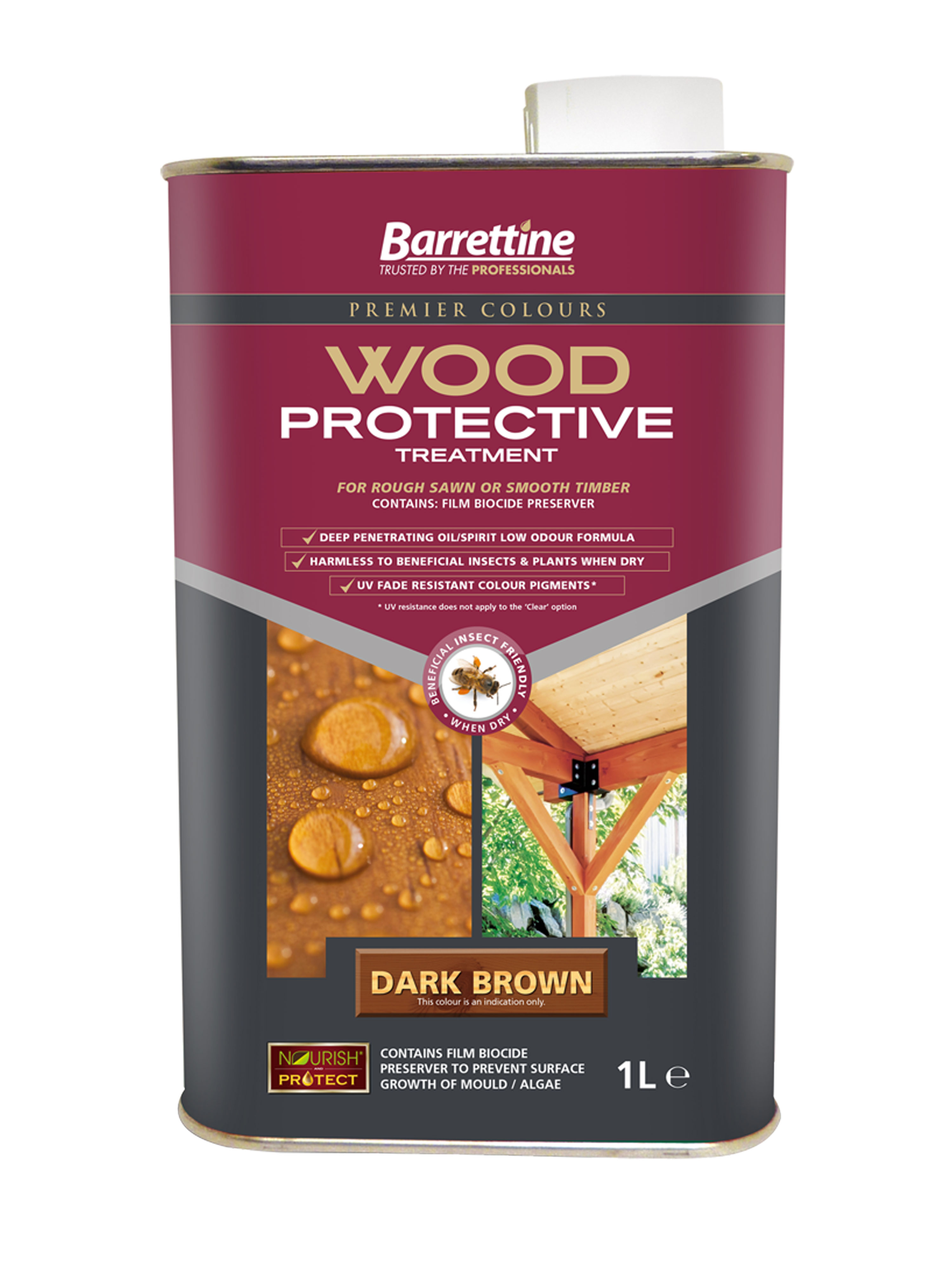 Wood Protective Treatment: Dark Brown 1L