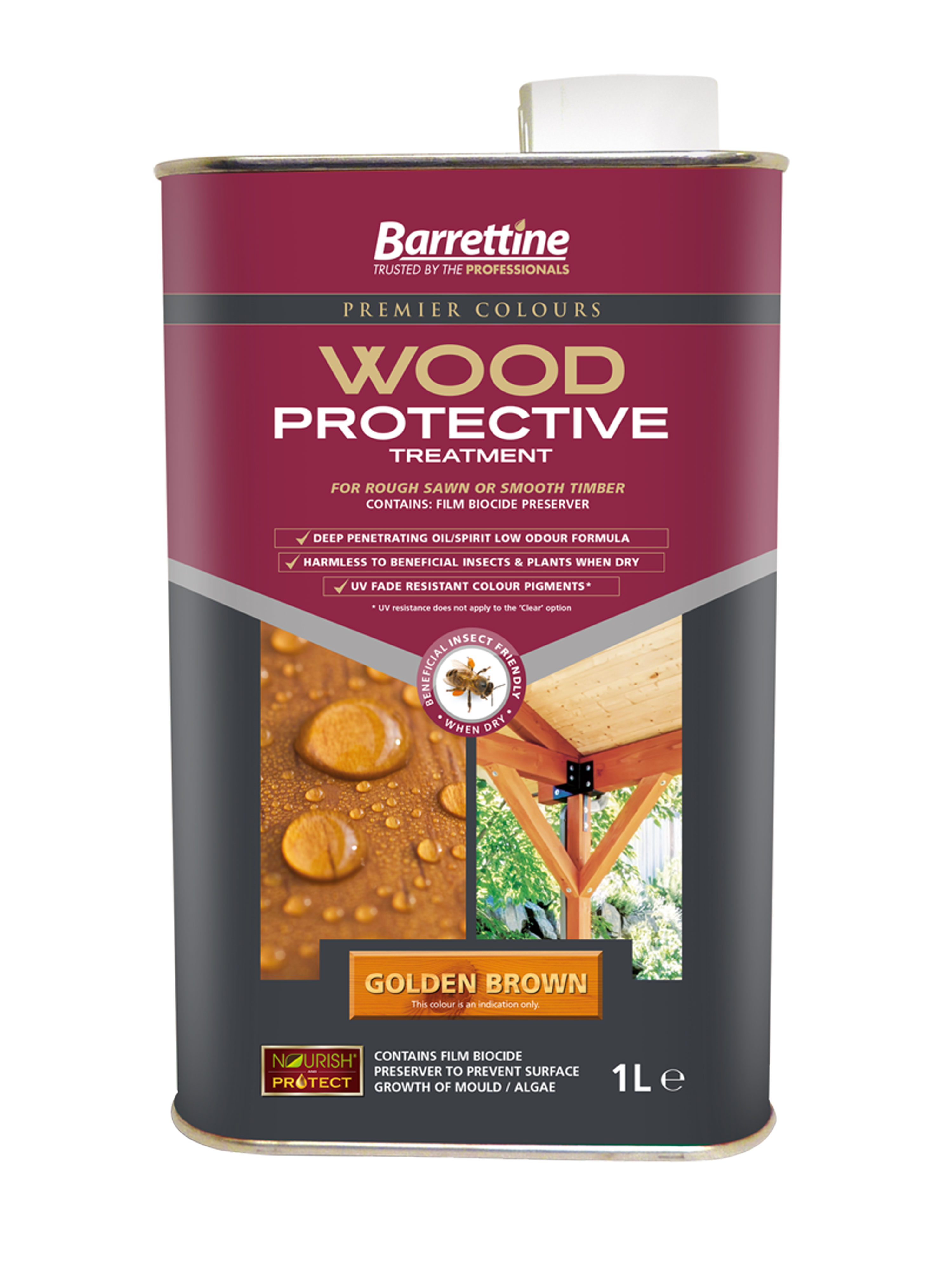 Wood Protective Treatment: Golden Brown 1L