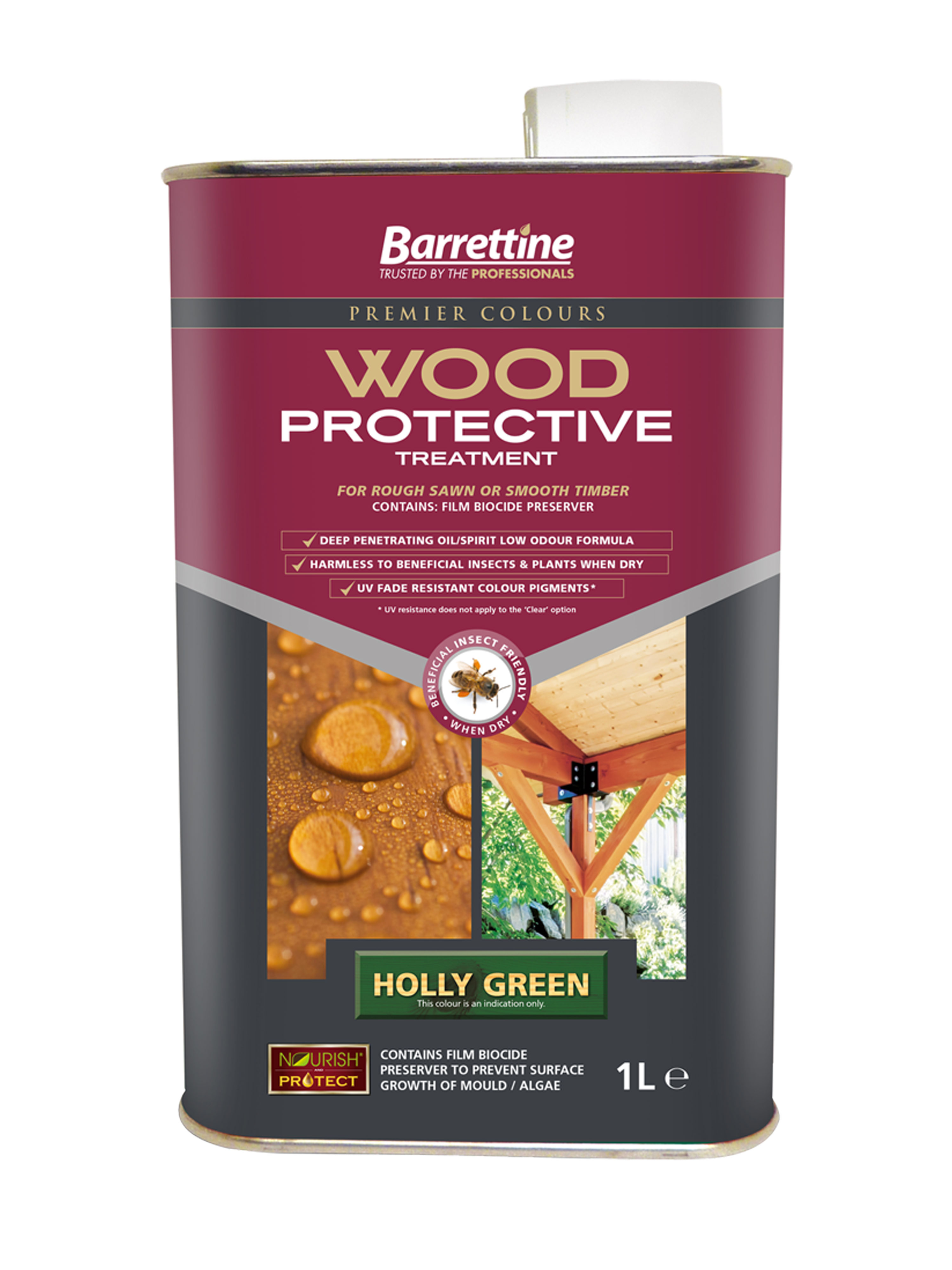 Wood Protective Treatment: Holly Green 1L