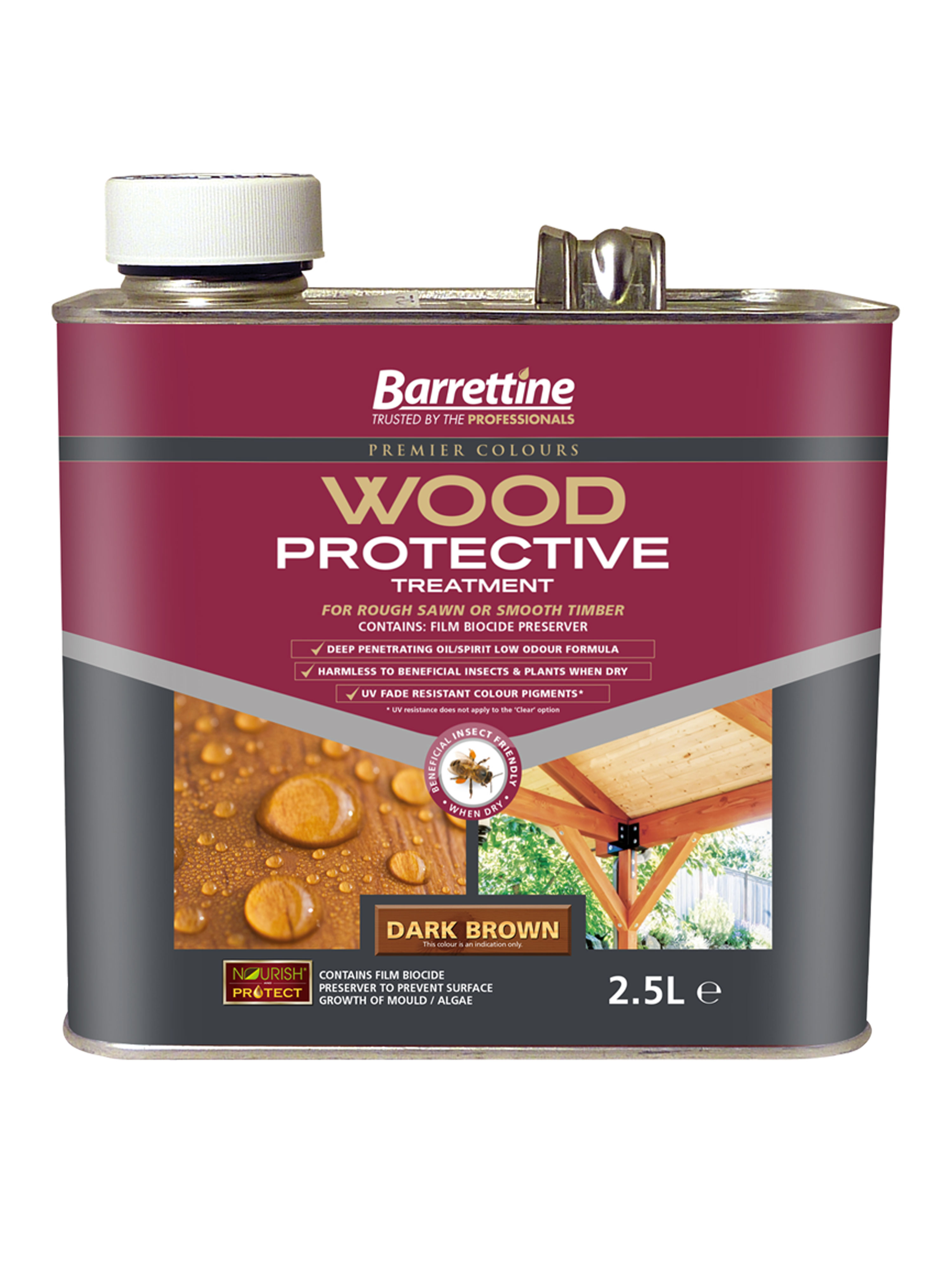 Wood Protective Treatment: Dark Brown 2.5L