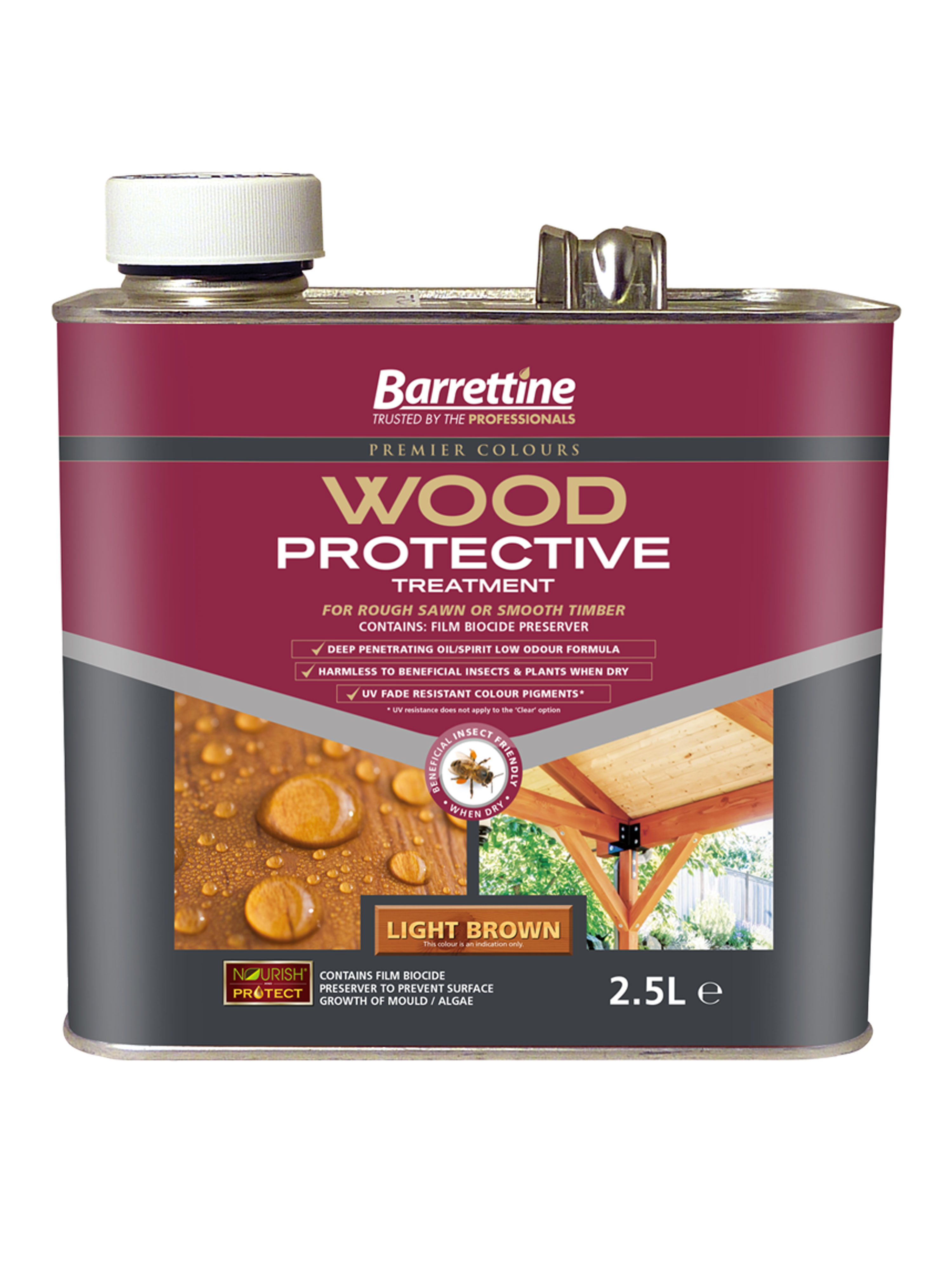 Wood Protective Treatment: Light Brown 2.5L