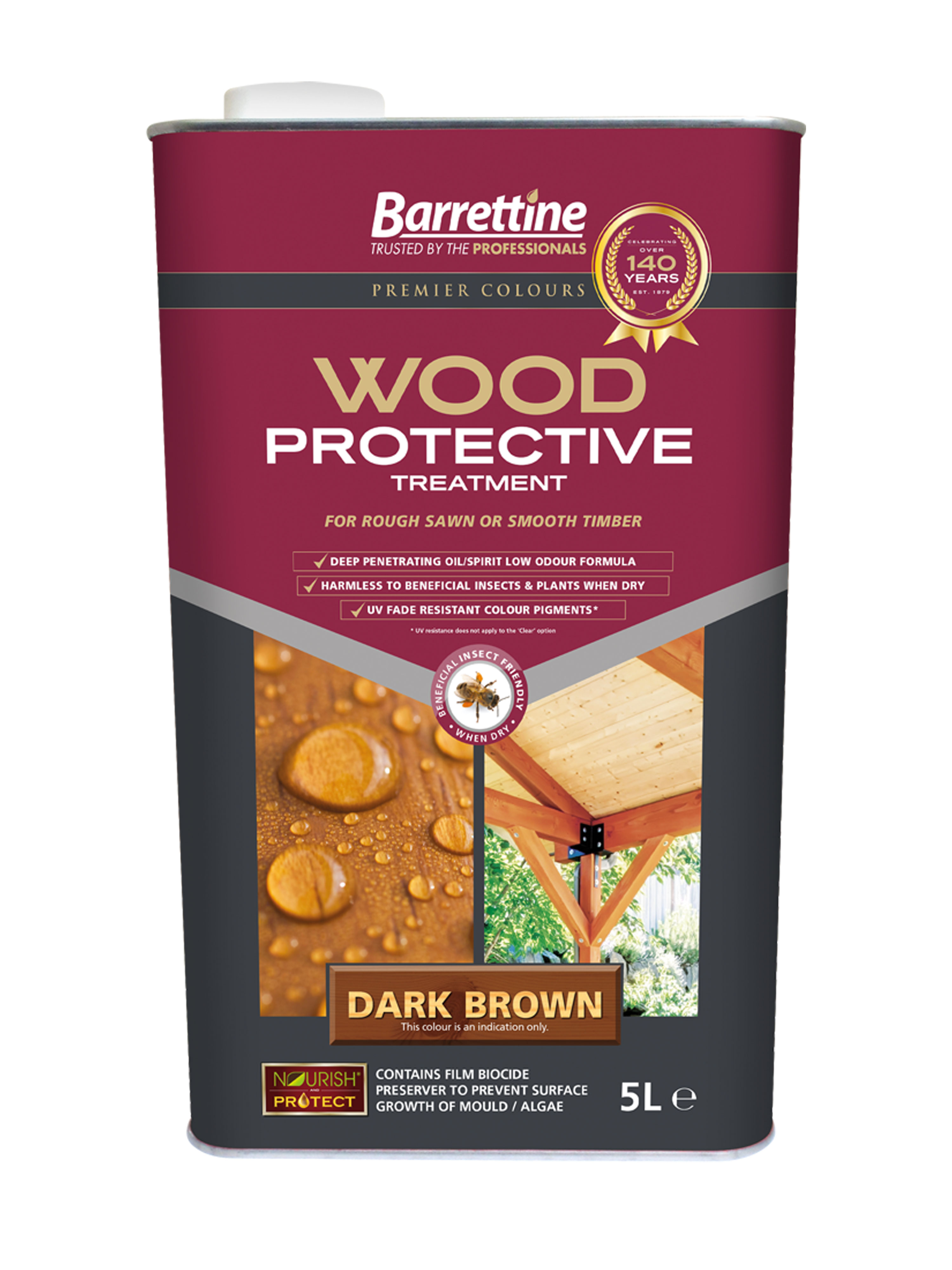 Wood Protective Treatment: Dark Brown 5L