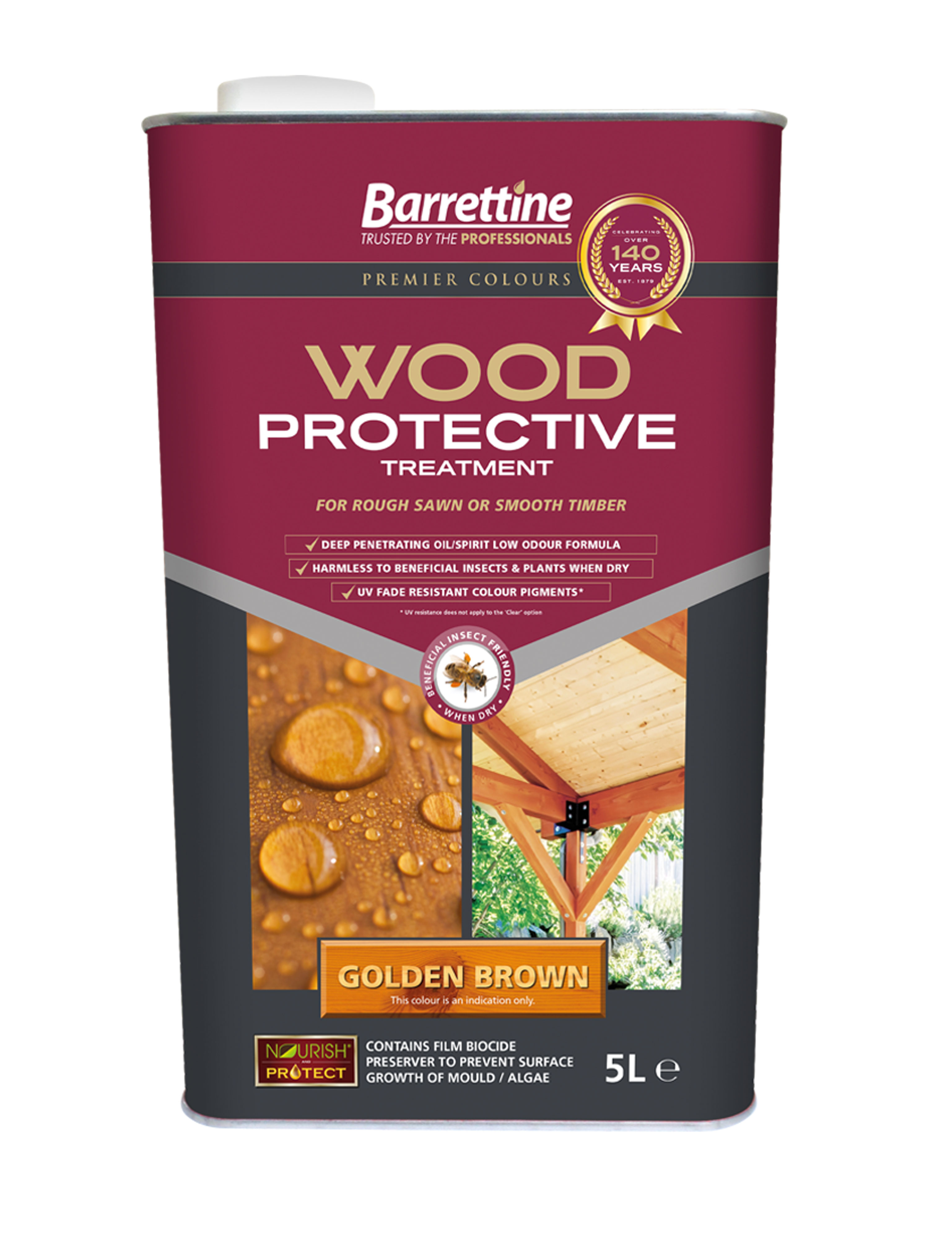 Wood Protective Treatment: Golden Brown 5L