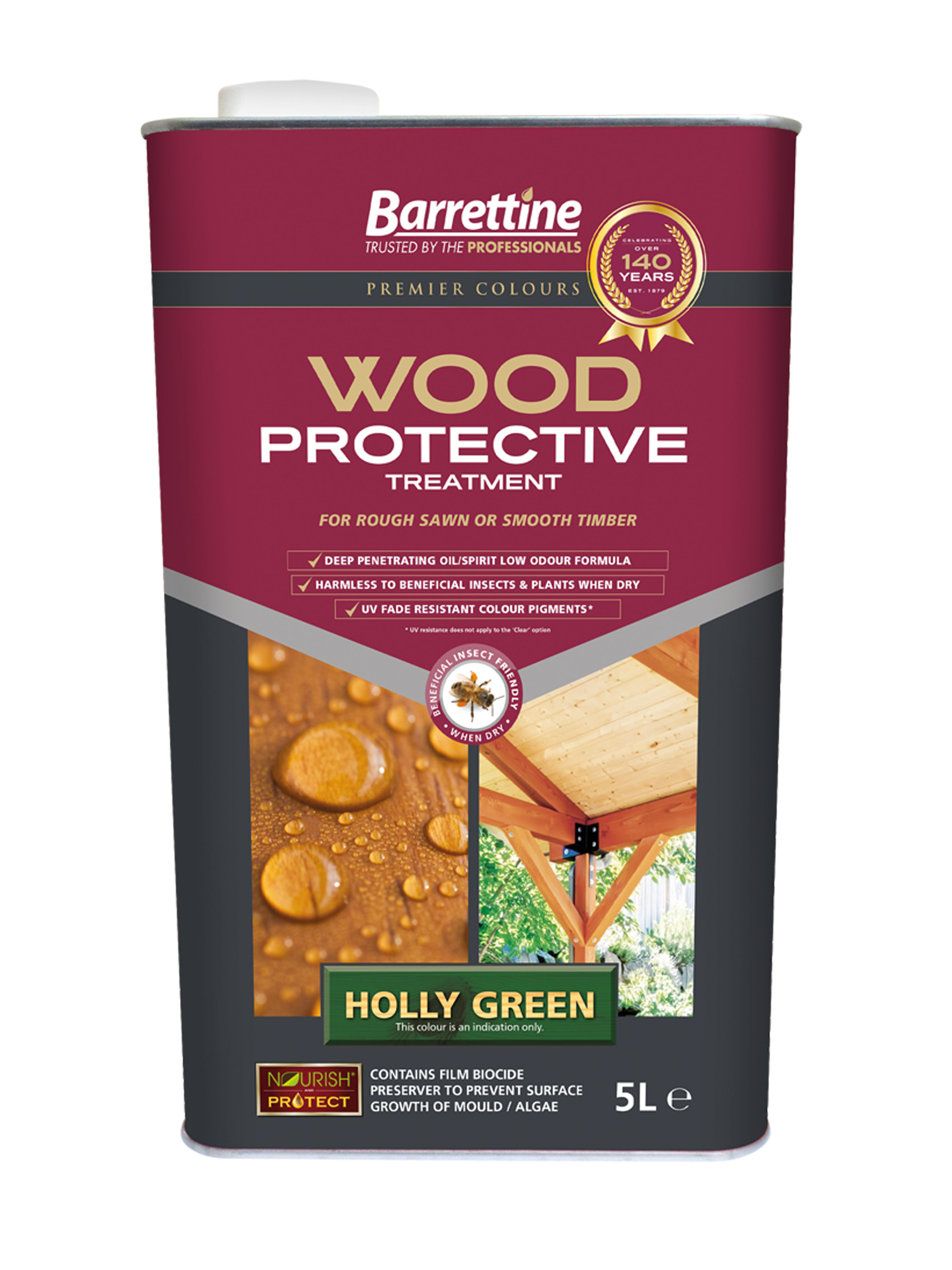 Wood Protective Treatment: Holly Green 5L