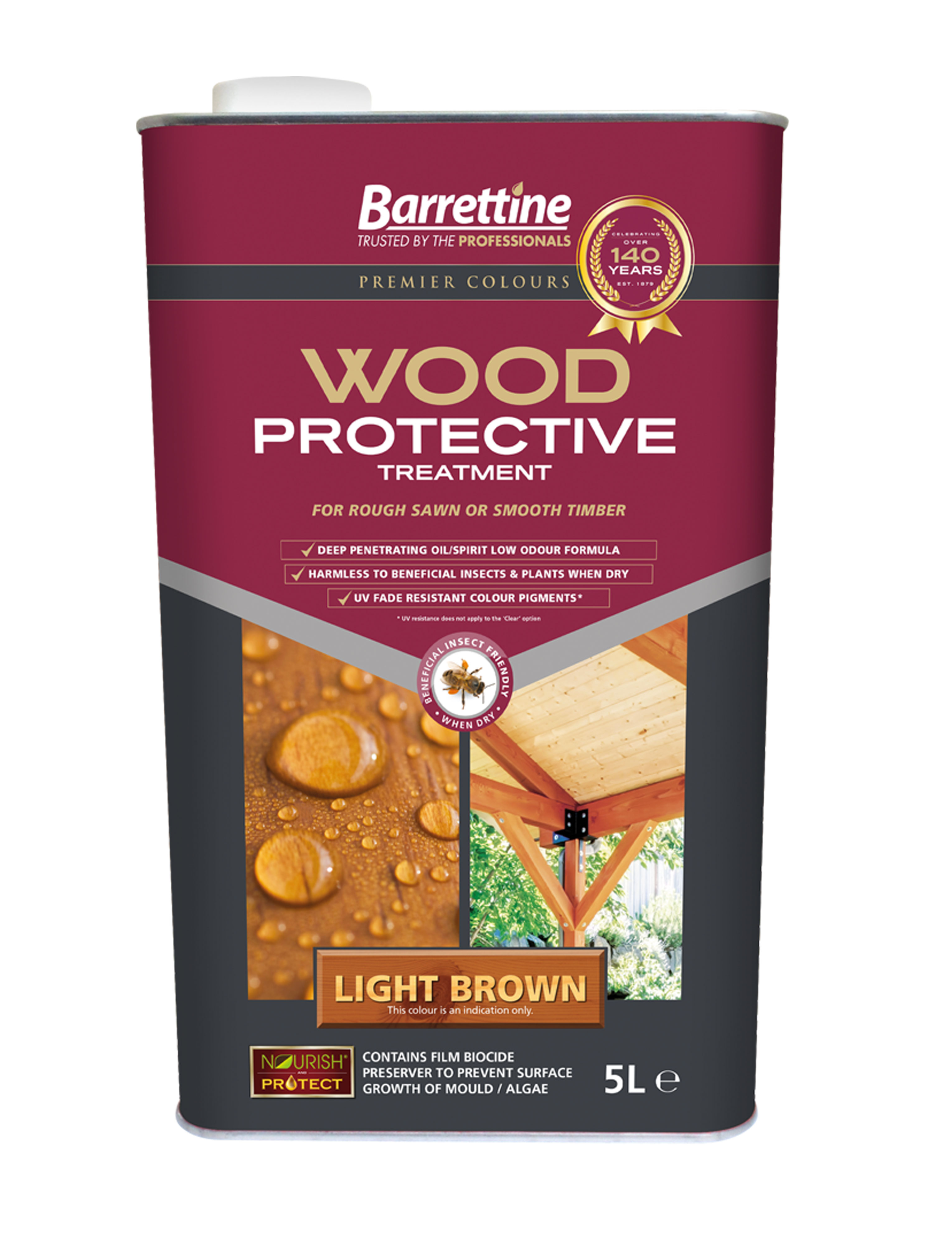 Wood Protective Treatment: Light Brown 5L