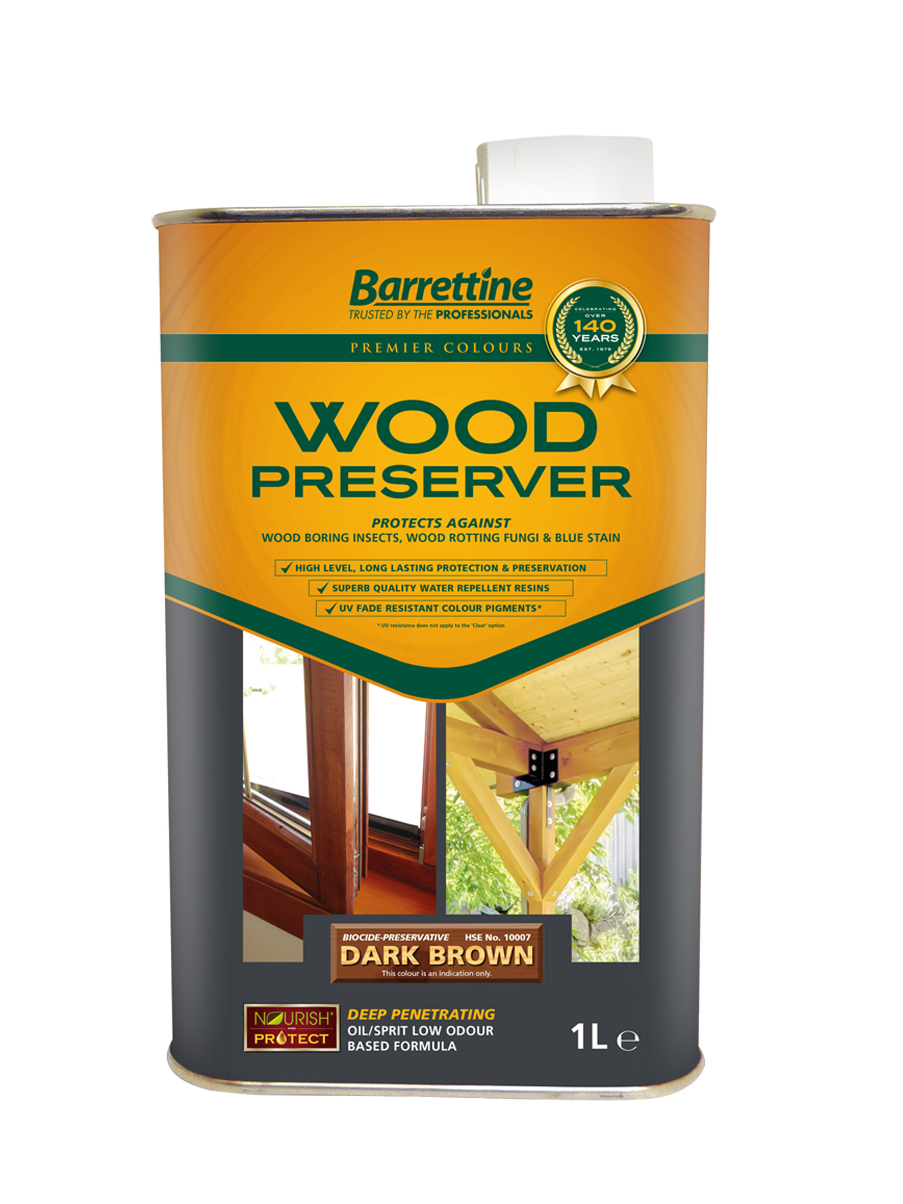 Wood Preserver 1L Dark Brown