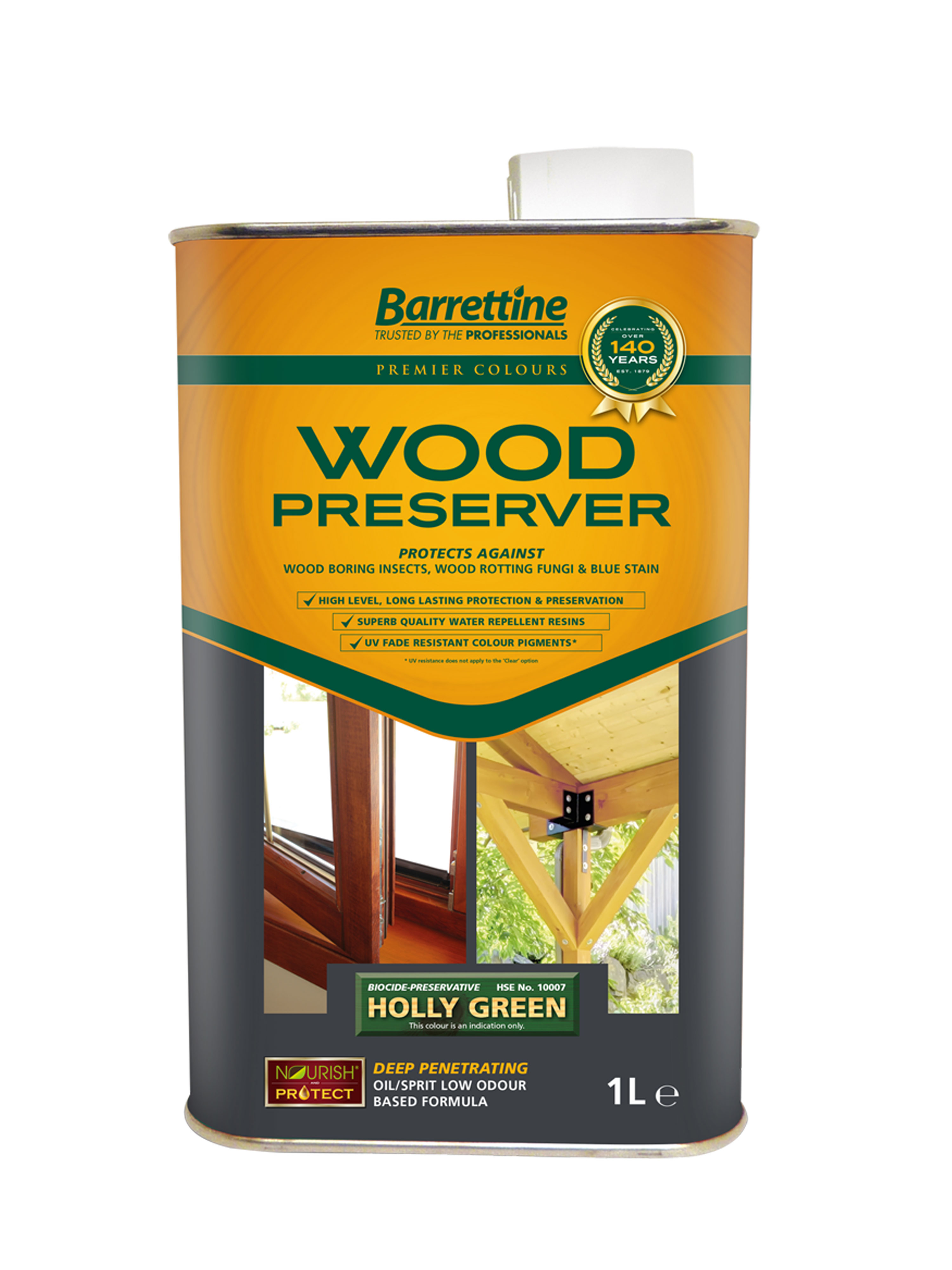 Wood Preserver 1L Holly Green