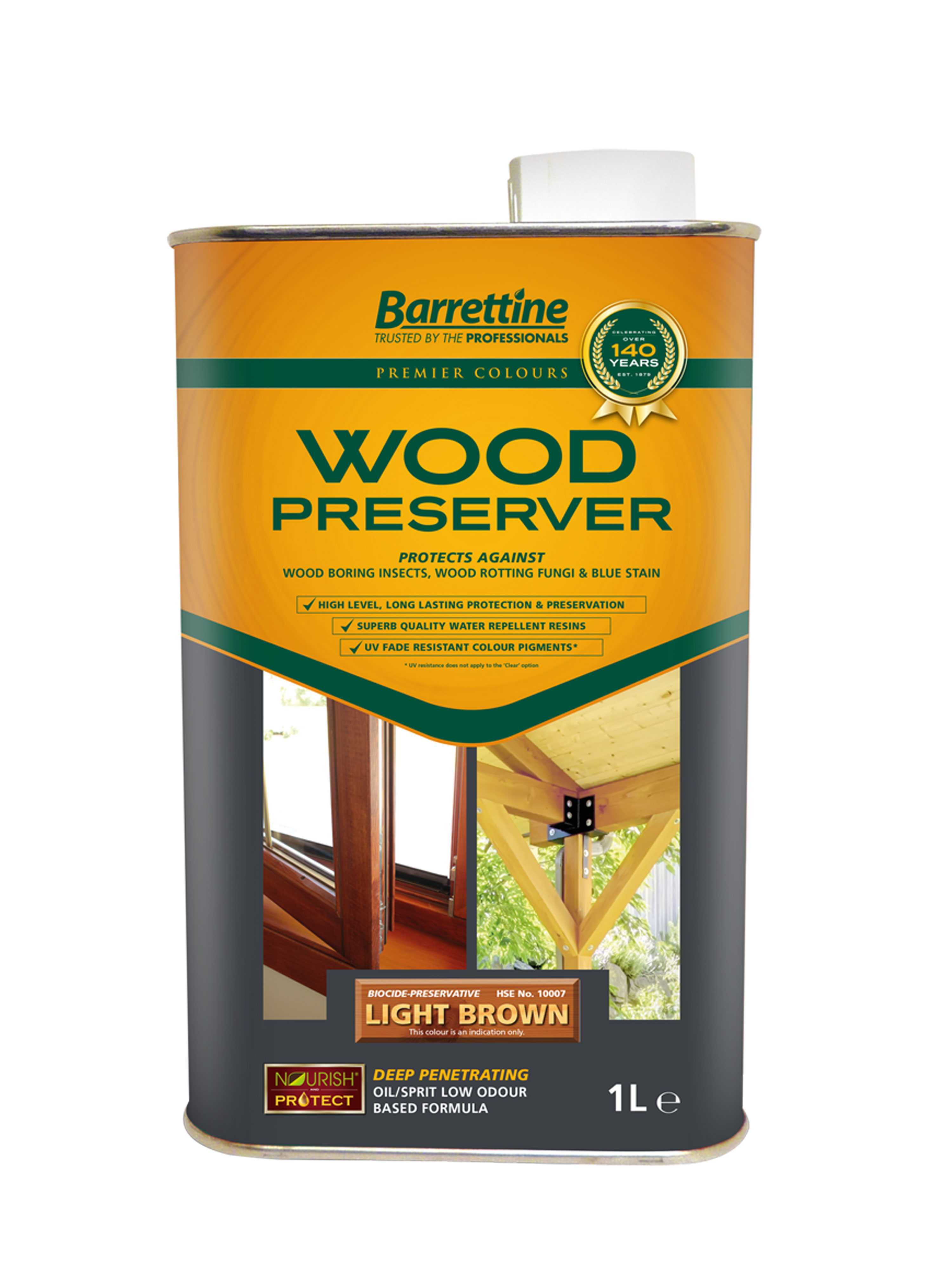 Wood Preserver 1L Light Brown