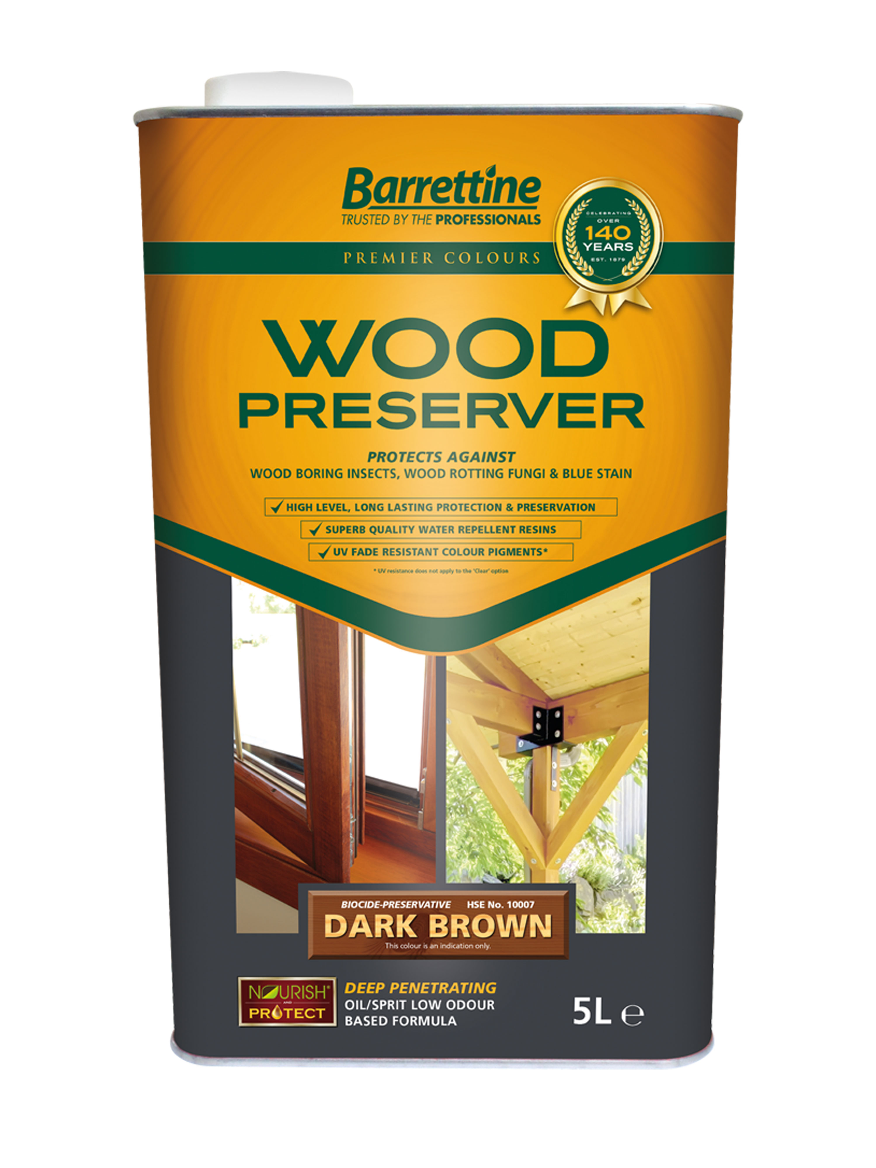 Wood Preserver 5L Dark Brown