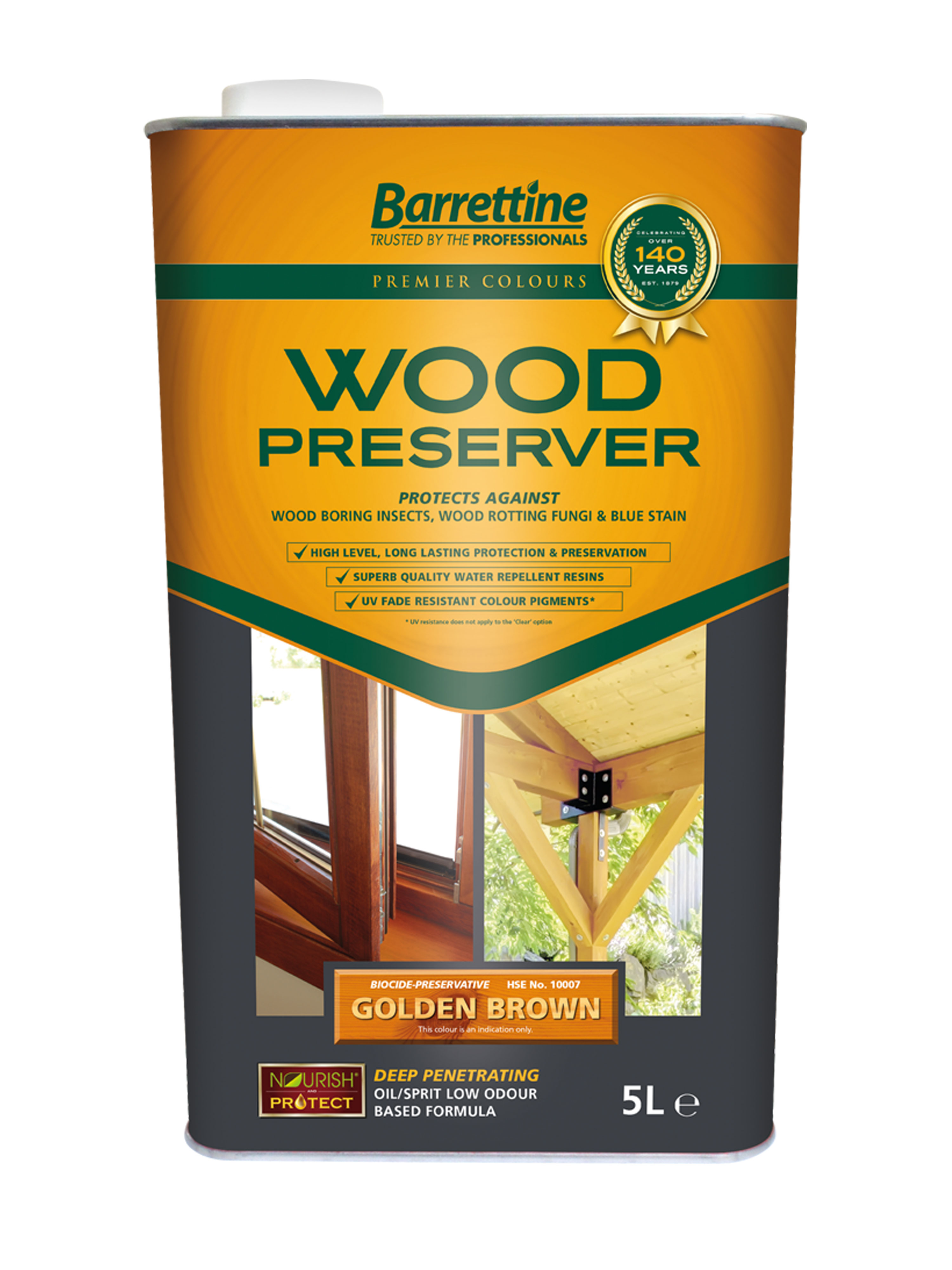 Wood Preserver 5L Golden Brown