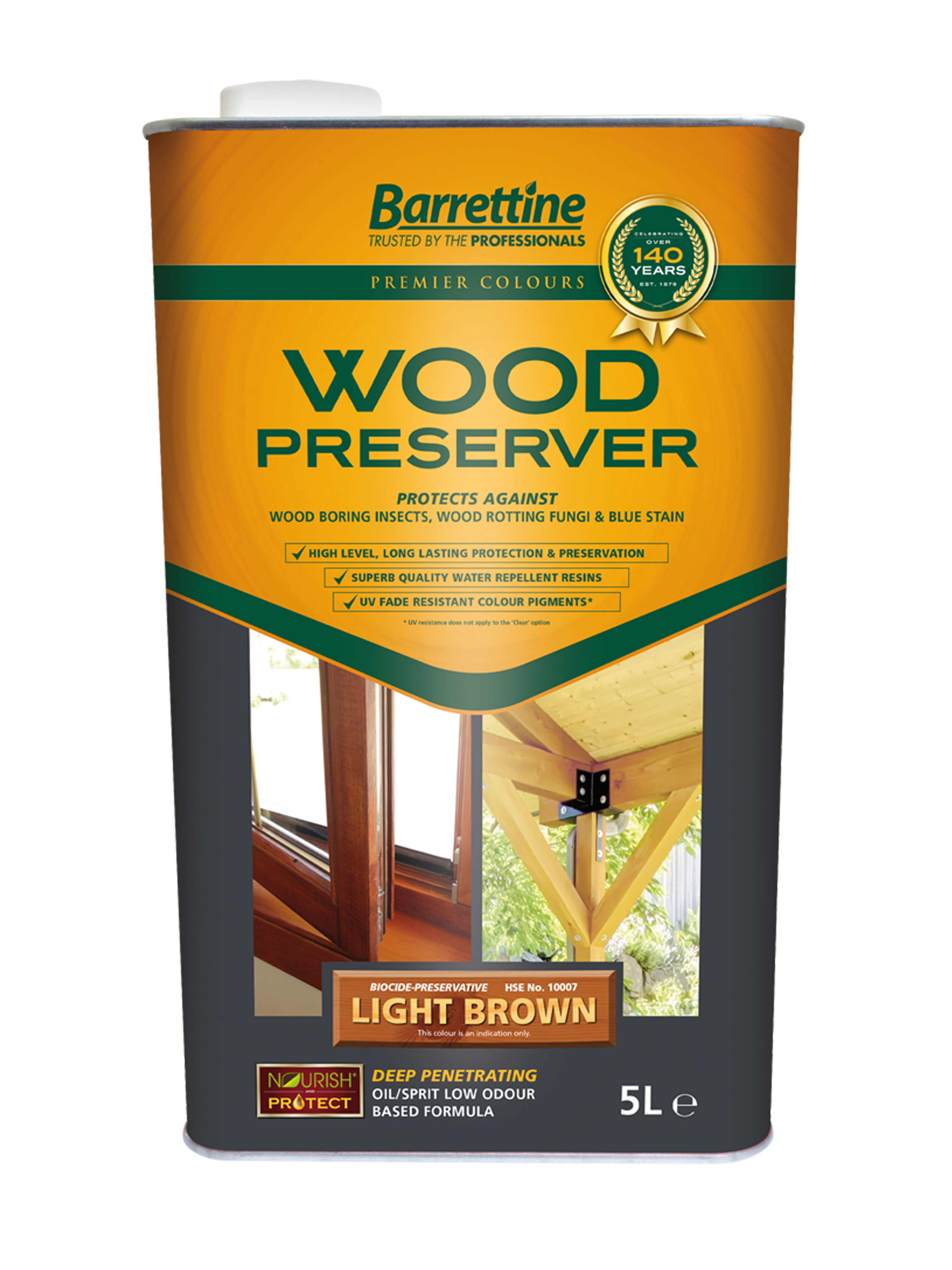 Wood Preserver 5L Light Brown