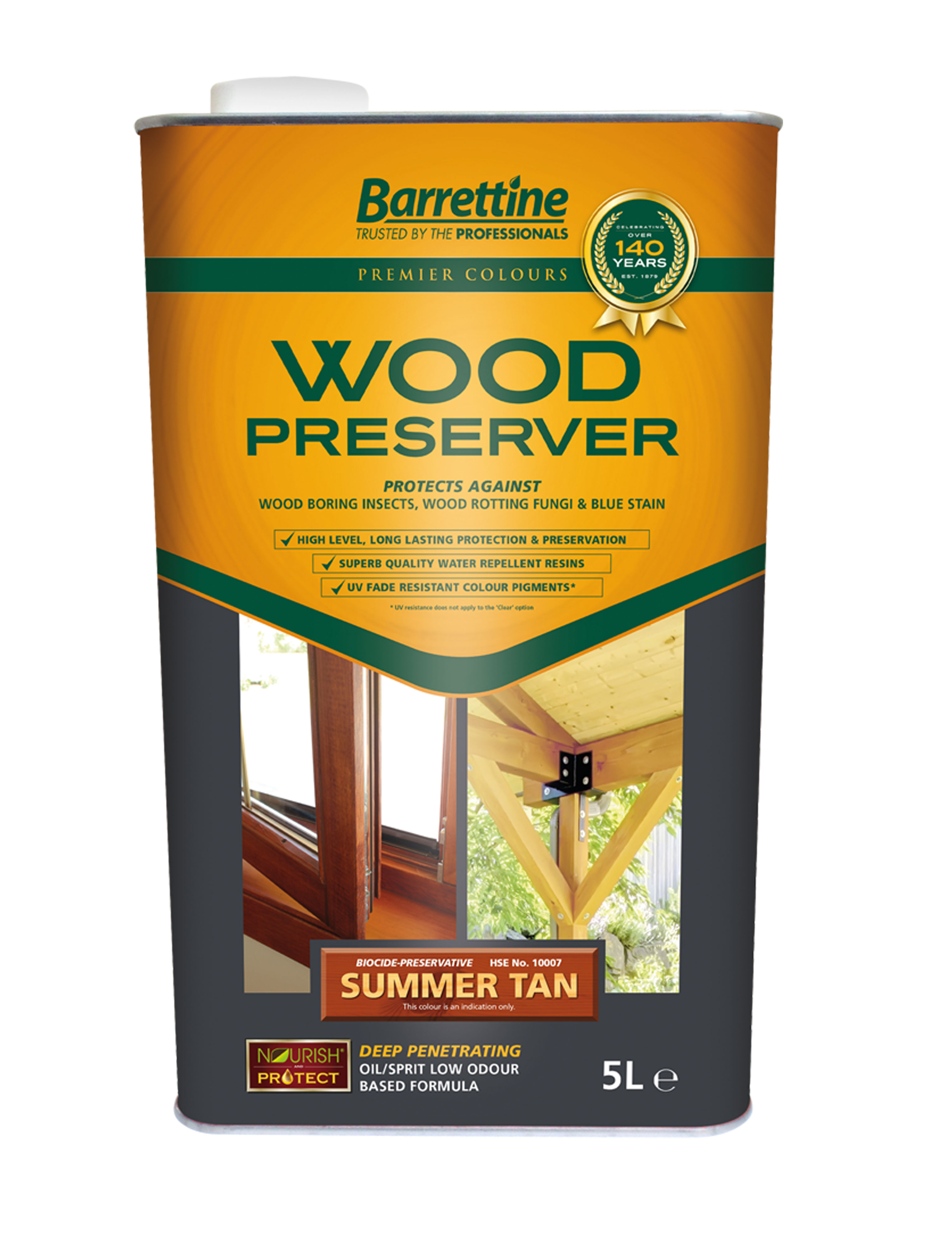Wood Preserver 5L Summer Tan