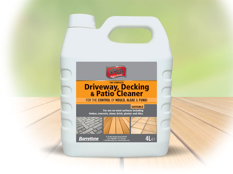Knockout black disinfectant barrettine products for Driveway cleaning chemicals